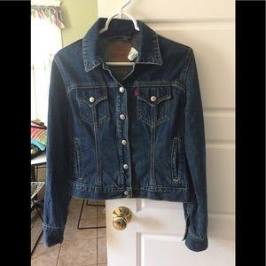NWOT Perfect Levi's Jacket 6 Button Snap Sz Small
